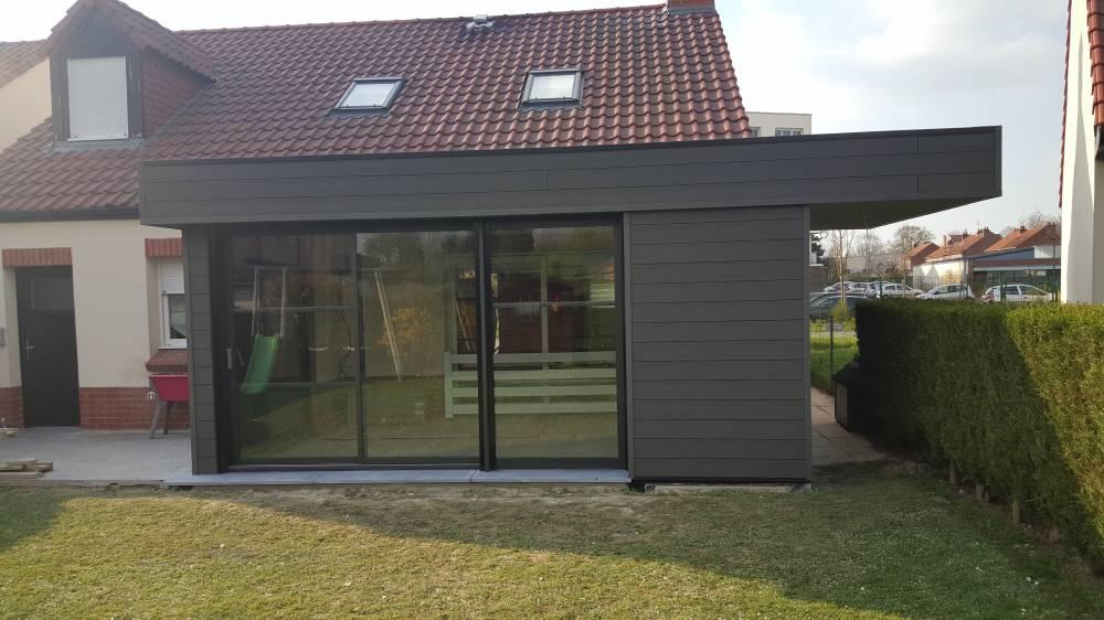 cr ation d 39 une extension toit plat a wambrechies m l. Black Bedroom Furniture Sets. Home Design Ideas