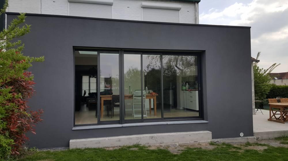 extension maison nord enduit projet lille m l 39 extension. Black Bedroom Furniture Sets. Home Design Ideas